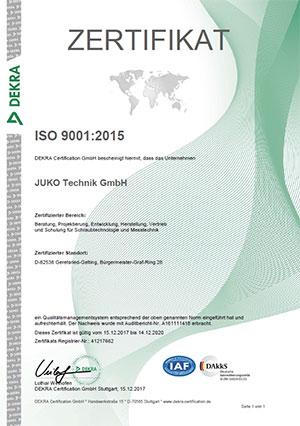 smarttorc-Zertifikat-ISO-9001-Jahr-2015-Deutsch